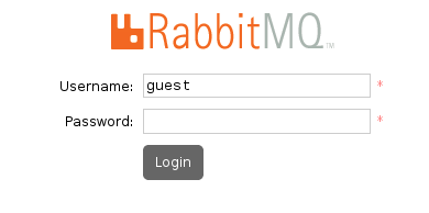 RabbitMQ Management Login Screen